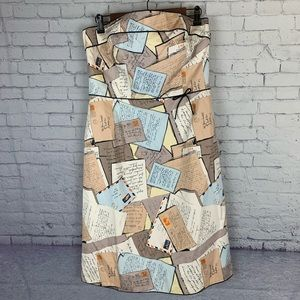 J. Crew Love Letter Postcard Mail Dress Size 12